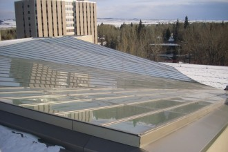 UW College of Biz skylight exterior